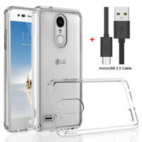 For LG Phoenix 4 Case Slim Clear Hard Back Shockproof Bumper Protective Cover