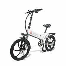 E-BIKE Elektrofahrrad 20 Zoll Mountainbike mit 350W 48V 10Ah 20 Zoll Weiß