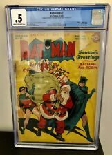 BATMAN #27 CGC 0.5 CHRISTMAS COVER - Coupon Cut Out - Small Crack In Case