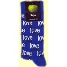 OFFICIAL LICENSED - THE BEATLES - LOVE ME DO BLUE MENS SOCKS SIZE 7/11