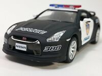 "New 5"" Kinsmart Nissan GT-R (R35) Police Car 1:36 KT5340DP GTR Diecast Model Toy"