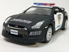 "New 5"" Kinsmart Nissan GT-R (R35) Police Car 1:36 KT5340DP GTR Diecast Model Toy"