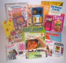 Girl's Children's KLUTZ Activity Kit Craft Kits & Books Lot