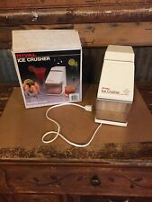 Vintage Rival Electric Ice Crusher White Model 840 Removable Ice Cup In Box