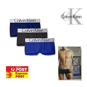 3 X Genuine CALVIN KLEIN Men's Underwear CK Steel Micro Low Rise Trunk NB1656