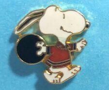 SNOOPY BOWLING Tie-tack  -Peanuts Gang Collectible Pin