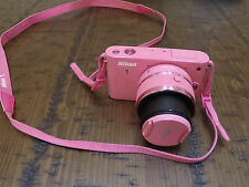 "NIKON 1 J1 10.1 MP 3"" Screen Camera with 10-30mm 1/3.5-5.6 VR Lense Pink!"