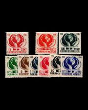 Vintage: Mexico 1945 Scott # 792-795,C143-C147 $ 40 Lot # Mex1945Gh