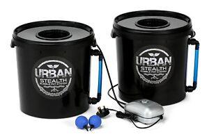 20L 2x Stealth Bubble Pot Plain Packaged Hydroponic DWC Oxy Bubbler Alien IWS