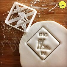 Dig In Signage cookie cutter | Suitable for building construction themed party
