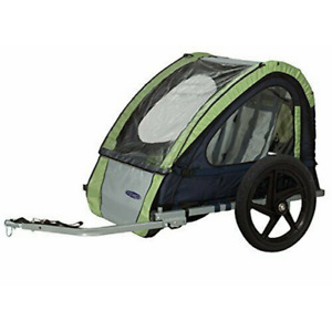 InSTEP 2 Seater (Double) Bike Trailer - Green/Grey - New In Box