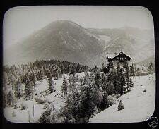Glass Magic Lantern Slide SONNWENDSTEIN MOUNTAIN FROM SEMMERING C1910 AUSTRIA