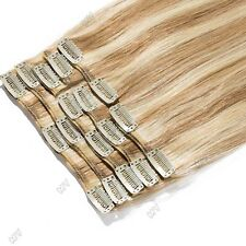 "8""-22"" Inches Clip In Remy 100% Real Human Hair Extensions Full Head PCS USPS MX"