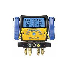 Fieldpiece SMAN460 4-Port Wireless Manifold w/ Micron Gauge, Clamps