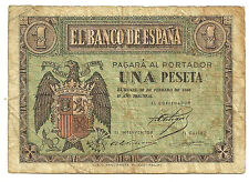 BILLETE DE 1 PESETA DE 1938 (BC-) FEBRERO (SERIE F)