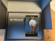 Tag Heuer Aquaracer ladies diamond watch gold plated and stainless steel