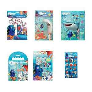 Finding Dory Activity Packs Colouring Pad Sets Pencil Crayons Pictures Travel