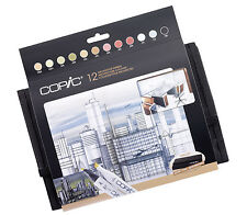 Copic Marker - 12 Architecture Colours Wallet Set - Refillable With Copic Inks