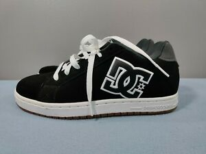 NEW DC COURT RS LOW SUEDE SKATE SNEAKERS MEN SHOES BLACK & WHITE SIZE 9 1/2