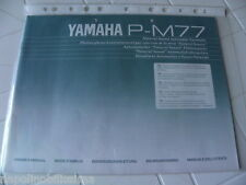 Yamaha P-M77 Owner's Manual Operating Instruction New