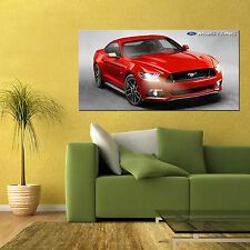 2015 FORD MUSTANG 5.0 MUSCLE CAR LARGE AUTOMOTIVE HIGH DEFINITION POSTER 24x48in