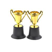 2PCS Plastic Tulip Shape Trophy Cup Competition Sports Winner Table Decor HF
