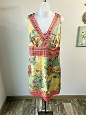 Nicole by Nicole Miller Multi-Color Silk Sleeveless Dress - 14