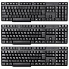3x Home Office Wired USB Keyboard Standard US Layout Desktop Computer PC Laptop
