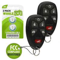 2 Replacement For 2005 2006 2007 2008 2009 Chevrolet Uplander Car Key Fob Remote