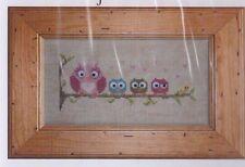 Trop Chouette - cute owls cross stitch chart - Jardin Prive