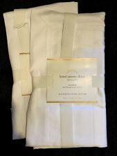 "Pottery Barn Hotel Sateen Sham Standard 26 X 20"" White Silky New"