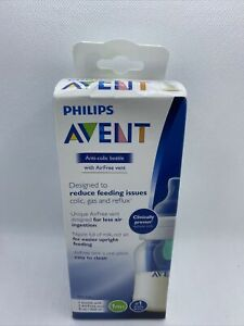 Philips Avent Anti-colic Baby Bottle with AirFree vent 9oz, 1 pack, SCF403/14