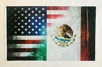 USA Mexico 3ftx5ft flag banner limited edition collectible item amazing art new