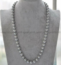 25'' Natural 9-10mm Gray Freshwater Cultured Pearl Necklace AAA