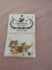 "Styles"" DIY 3D Nail Art Decoration Bows Flowers Roses Rhinestone Gems Stickes"