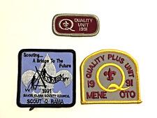 Boy Scout Patches 3 from 1991-Scouting A Bridge-Quality Unit-Quality Plus Unit