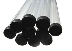 """MDI 1 1/4"""" (31.5mm) Diameter Protective Tubes -Various Lengths and End Caps"""
