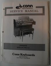 Conn Organ Starduster 240 Type 1 & 2 Service Repair Manual Schematics Parts List