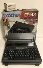 Brother EP-43 Portable Personal Electronic Typewriter w/ AC Adapter, Cover/Stand