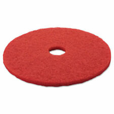 """3M Low Speed Buffing and Cleaning Floor Pads 20"""" 5100 Red Pack of 5 New"""