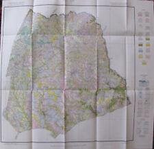 Folded Color Soil Survey Map Hart County Georgia Hartwell Bowersville Vanna 1929
