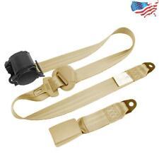 Beige Retractable 3 Point Car Sedan Safety Seat Belt Strap Adjustable Us Ship 1x Fits Toyota