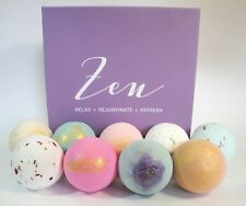 Organic Hand made with Essential Oils and Shea Butter 9 pc set Bath Bombs