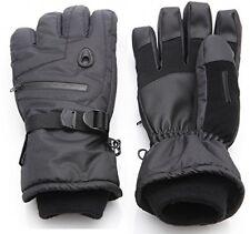 Black Men Winter Warm Gloves Waterproof Thinsulate Ski Snowboard Gloves (L)