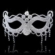 Hot Sexy Tassels Rhinestone Crystal Masquerade Eye Mask Fancy Halloween Costumes