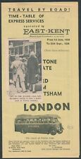 ZD1513t East Kent express services timetable June - Sept 1938
