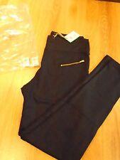 BNWT Manuka Women's Zip Leggings Black / Gold Medium/Large RRP £58