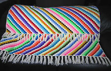 Vintage Afghan Blanket Handmade Crochet Shell Throw Lap Chair Cover Bed 52x75