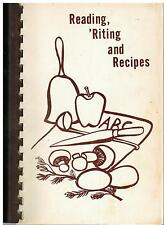 DEERFIELD IL 1978 VINTAGE *SCHOOLS *ETHNIC COOK BOOK *READING 'RITING & RECIPES