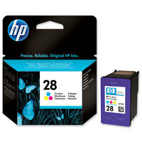 GENUINE ORIGINAL HP 28  COLOUR CARTRIDGE C8728AE  2 YEARS GUARANTEE FAST POSTAGE